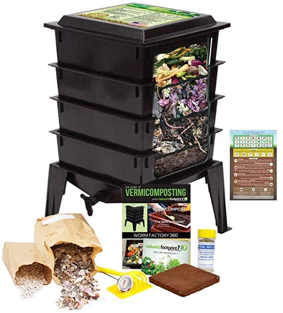 Amazon.com: Worm Factory 360 recipiente de abono vegetal ...