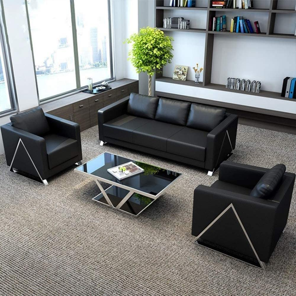 Amazon.com: DNNAL Leather Sofa Modern Office Sofa Office Reception Sofa: Sports & Outdoors