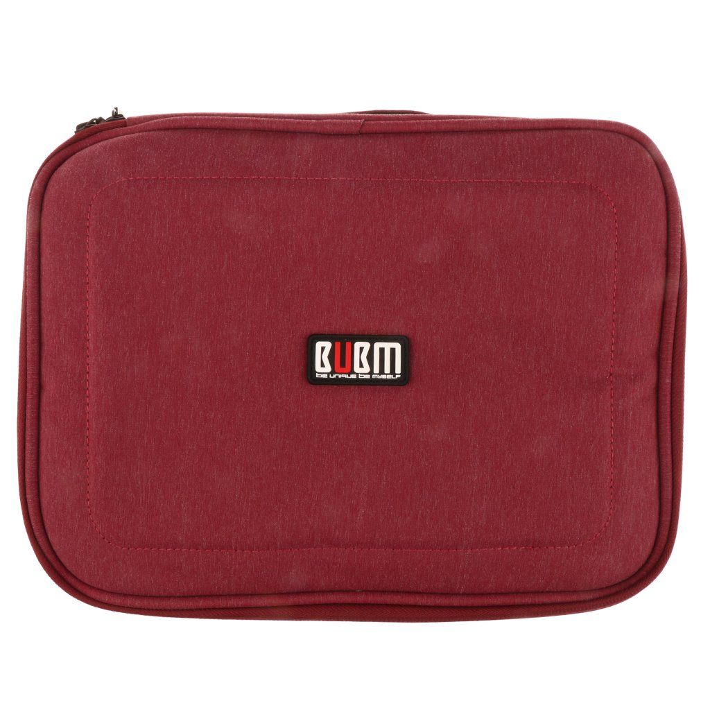 Jili Online Cable Organizer Accessories Travel Portable Carry Bag for Phone Power Large Red