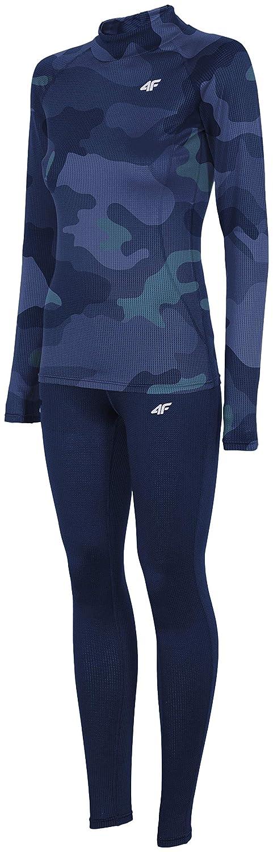 4F Skiunterwäsche Damen BIDC001 Thermo Unterwäsche Set | Unterhemd + Unterhose | Funktionswäsche Schnelltrockend & Atmungsaktiv