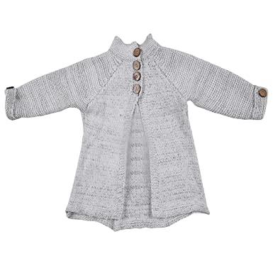 26d8e5b43 Amazon.com  Jarsh Kids Baby Girls Solid Color Knit Sweater Cardigan ...
