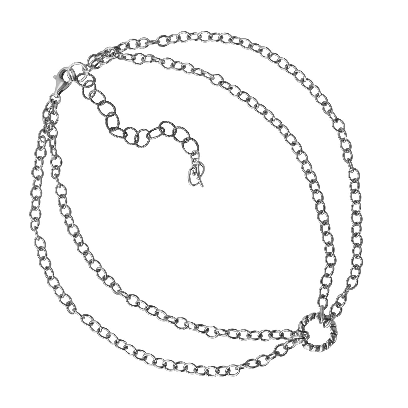 Carolyn Pollack Sterling Silver Chain Double Strand Choker Necklace