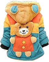 Toddler Baby Boy Cute 3d Bear Winter Warm Jacket Gown Kids Hoodie Outwears Coat