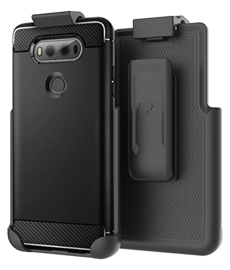 buy popular cc4c6 9d154 Encased Belt Clip Holster Compatible with Spigen Rugged Armor Case - LG V20  (case not Included)