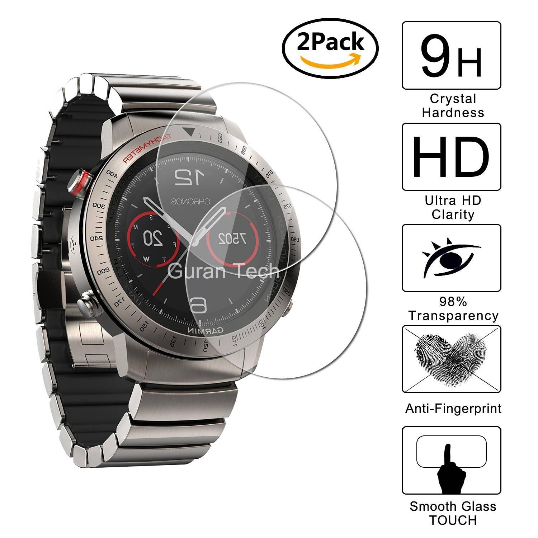 [2 Pack] Guran® Protector de Pantalla Vidrio Cristal Templado Para Garmin Fenix Chronos Smartwatch Cristal Vidrio Templado Film