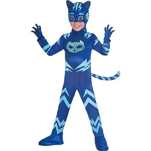 Boys Deluxe PJ Masks Catboy Costume Kids Fancy Dress