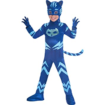 Amscan Childrens Size Deluxe PJ Masks Disfraz de Catboy Medium (5-6 years)