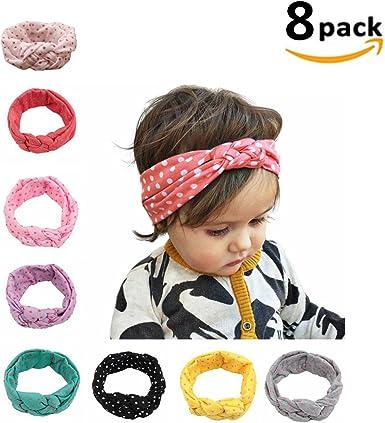 "8pcs 4.5 /""Baby Girls Lace Flower Crochet Headband Children Hair Accessories"