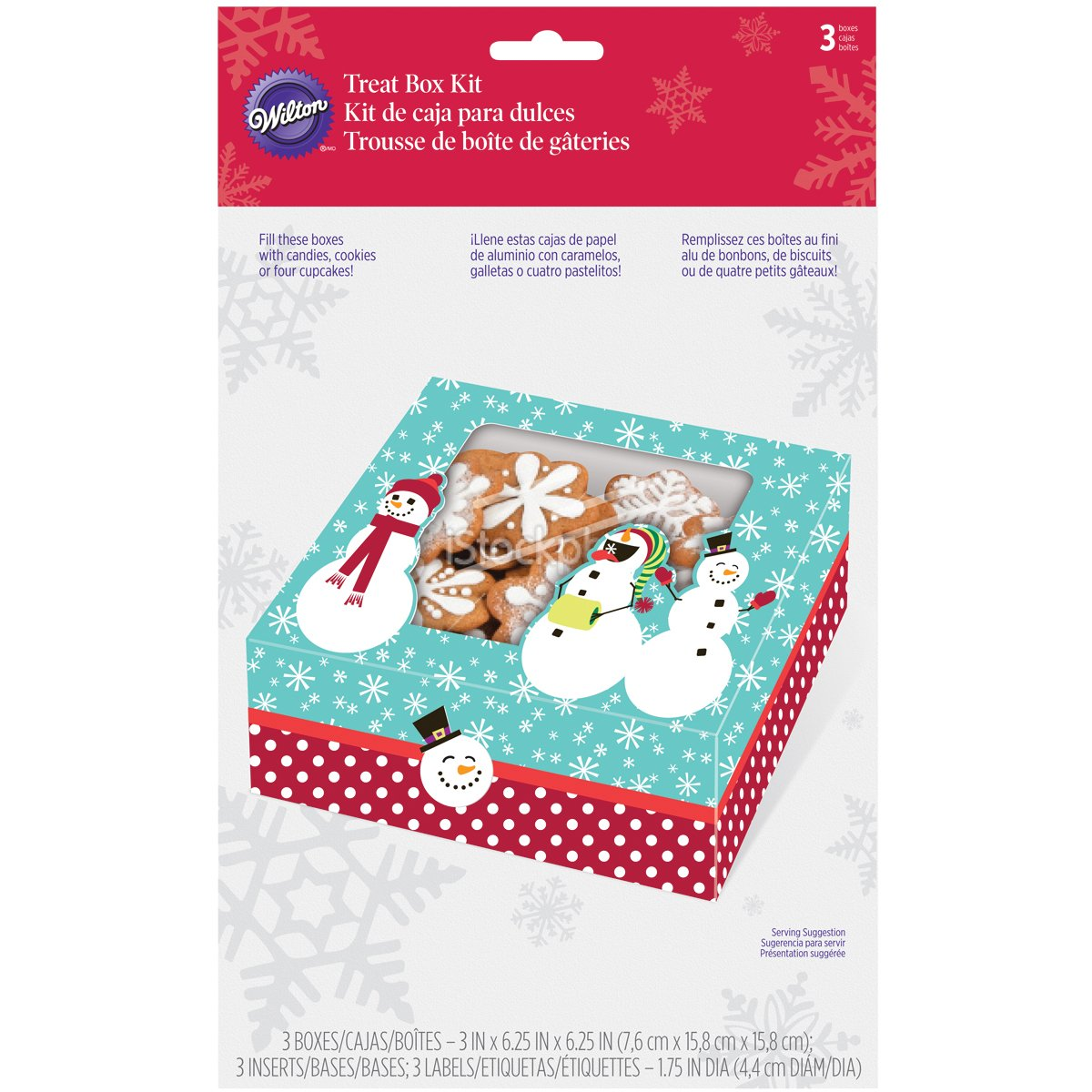 Amazon.com: Wilton 415-1819 3-Pack Merry and Sweet Medium Cookie Box: Food Savers: Kitchen & Dining