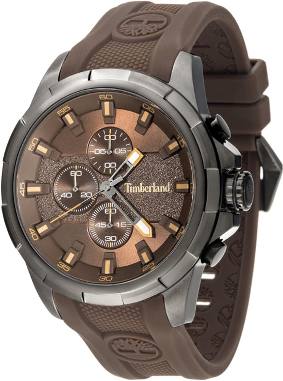 Timberland Boxford Reloj para Hombre Analógico de Cuarzo con Brazalete de Silicona 15253JSU-12P