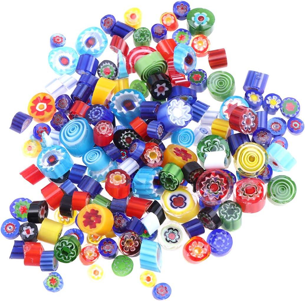 SUPVOX 56g perline mosaico mosaico di vetro multicolore fai da te accessori per la fabbricazione di gioielli artigianali