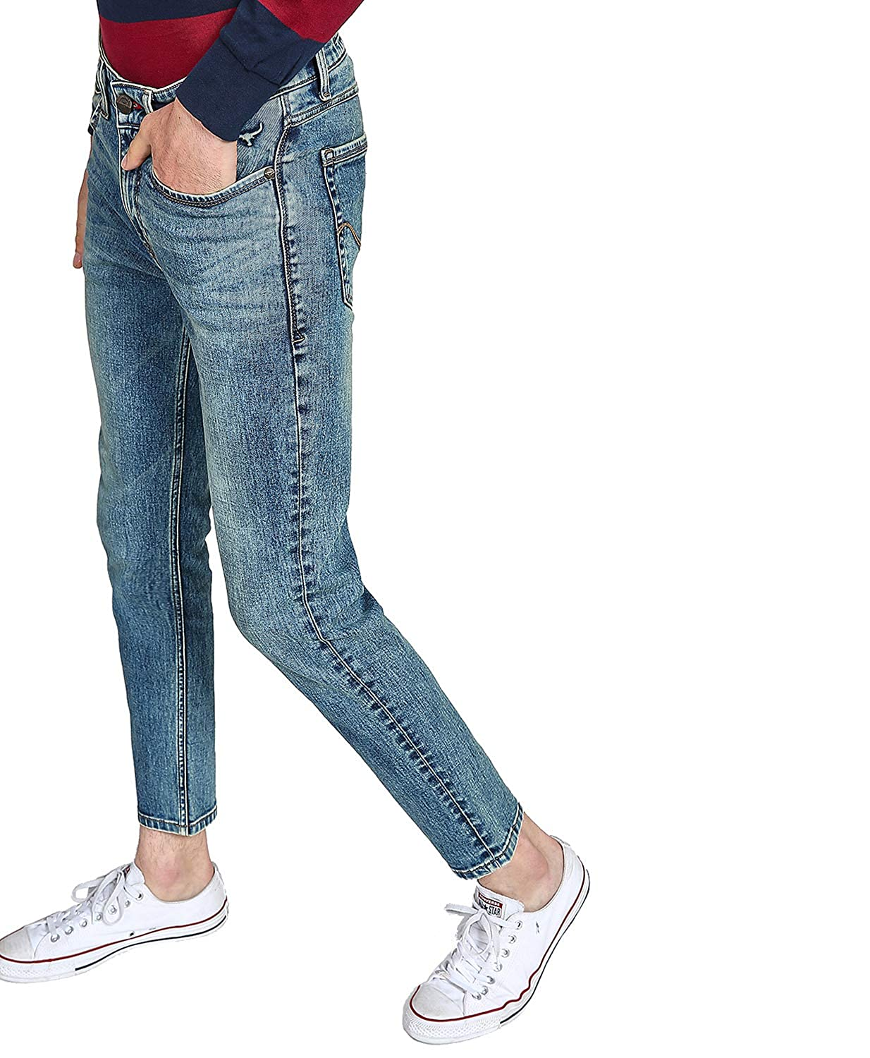 FBB Dyed Low-Rise Tapered Fit Jeans