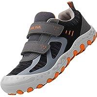 Zapatos Velcro para Niños Zapatillas Senderismo Niño Antideslizante Bambas Casual Niña Calzado Chicos Gris 27 EU
