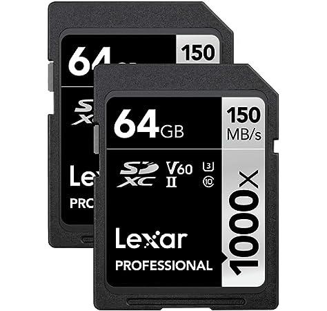 Amazon.com: Lexar Professional 1000x 64GB (2-Pack) SDXC UHS ...