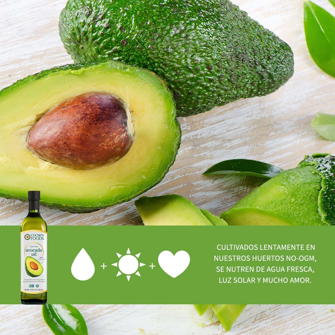 Chosen Foods 100% Avocado Oil Gold Label 25.4 oz, Non-GMO, for High-Heat Cooking, Frying, Baking, Homemade Sauces, Dressings and Marinades by Chosen Foods (Image #8)