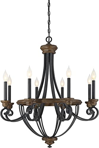Savoy House 1-2051-8-68 Wickham 8-Light Chandelier in Whiskey Wood