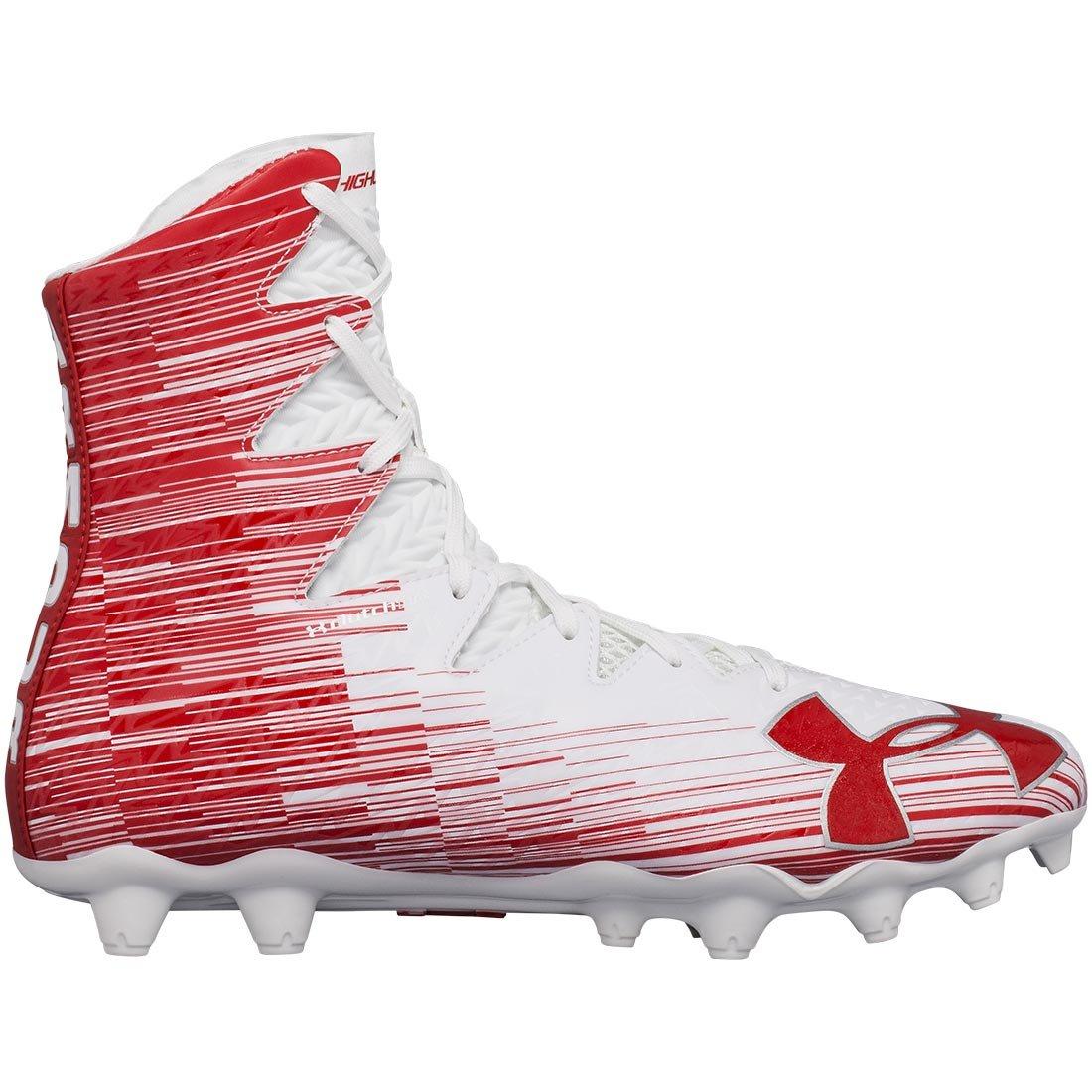 Under Armour Men's Highlight M.C. Lacrosse Shoe, White (161)/Red, 8