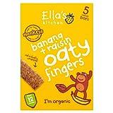 Ella's Kitchen Banana and Raisin Nibbly Fingers 25 g (Pack of 8)