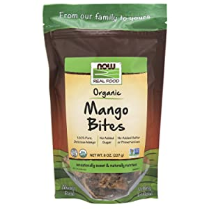 NOW Foods, Organic Mango Bites, No Sugar Added, Gluten-Free and Non-GMO, 8-Ounce