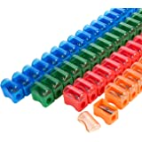 72-Count Plastic Pencil Sharpener - Manual Sharpener in Assorted Colors, Mini Handheld Sharpener with Lid, 1 x 0.9 x 0.5 Inches