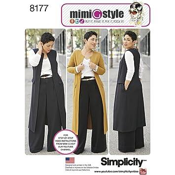 Simplicity Muster 8177 Mimi G Stil Hosen-, Mantel oder Weste, und ...
