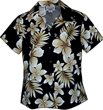 Made in Hawaii Hawaiian Aloha Shirt Native Hibiscus Black