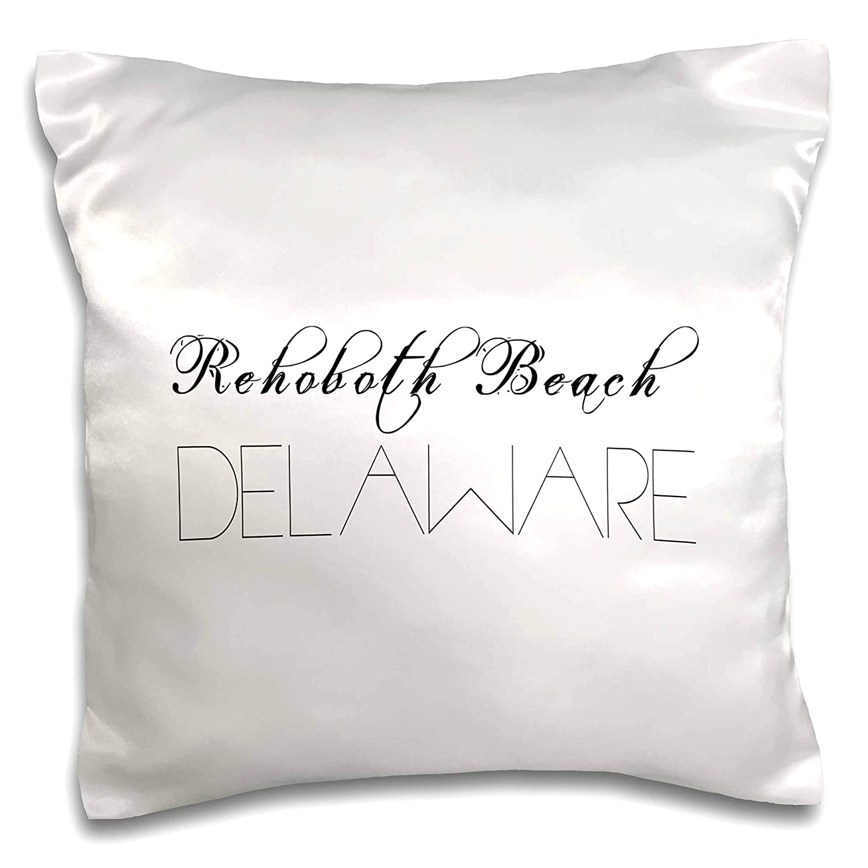 3dRose Alexis Design - American Beaches Typography - American Beaches. Decorative Text Rehoboth Beach, Delaware - 16x16 inch Pillow Case (pc_290876_1)
