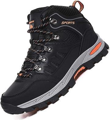 Rokiemen Zapatillas de Trekking para Hombre Zapatos de Senderismo Impermeable Transpirable Antideslizante Al Aire Libre Botas de Montaña Zapatillas de ...