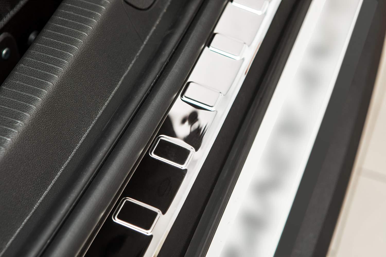Color:Plata Brillante teileplus24 L627 Acero Inoxidable Parachoques protecci/ón 3D