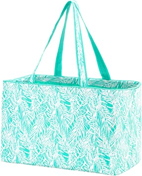 Poolside Palm High Fashion Print Collapsible Soft Cooler Bag Tote
