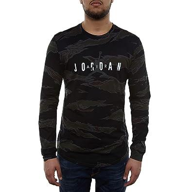 9f910925d6fa Image Unavailable. Image not available for. Color  Nike Mens Jordan  Sportswear Long Sleeve Camo Tech GFX2 Shirt ...