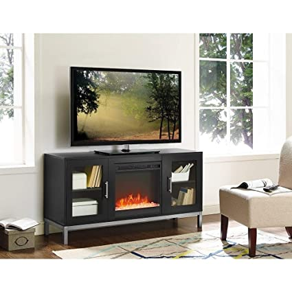 newest e7188 d7d62 Amazon.com: WE Furniture 52-inch Modern Fireplace TV Stand ...
