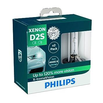 Philips 85122Xv2S Faros Delanteros de Xenón con Bombilla X-Tremevision D2S, Pack 2 Unidades: Amazon.es: Coche y moto