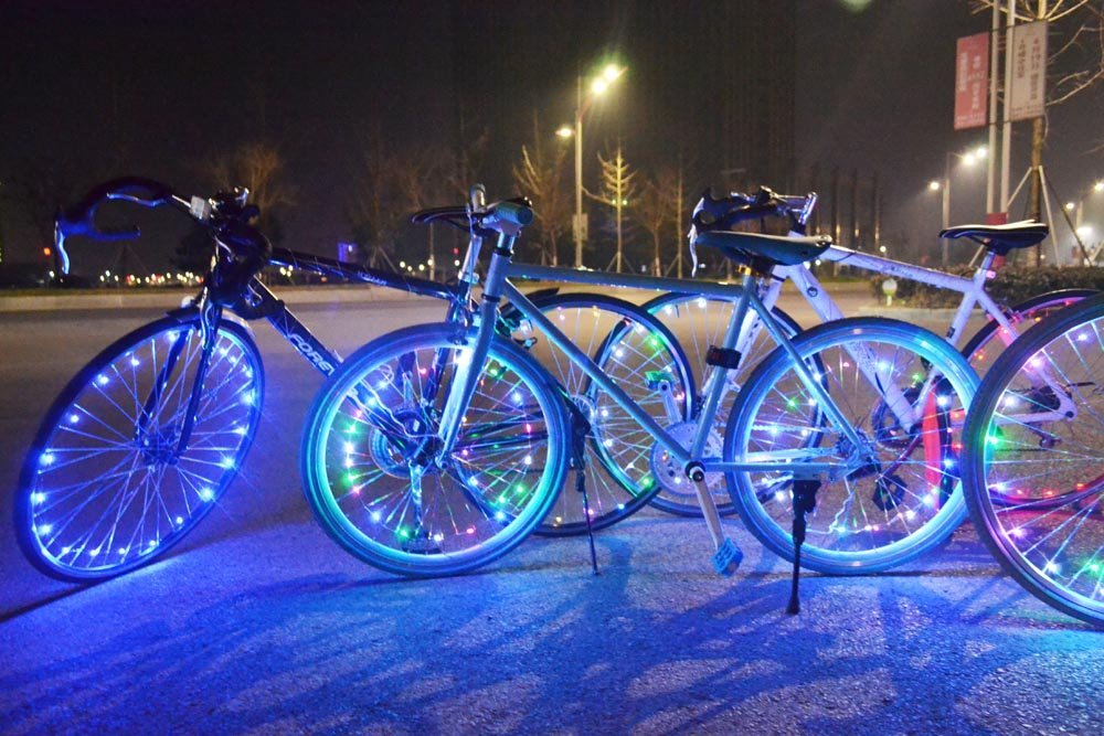 Super Bright 20-LED Bicycle Bike Rim Lights Personalized LED Colorful Wheel Lights Perfect for Safety and Fun
