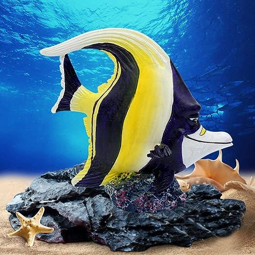 Amakunft Decoración para Acuario, Disney Buscando a Dory, Nemo pequeño Resina pecera Tanque Adornos 4 Paquetes, Incluye Dory, Nemo, Crush, Gill y Bruce: ...