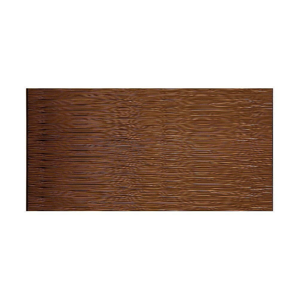 Fasade - Waves Horizontal Oil-Rubbed Bronze Decorative Wall Panel - Fast and Easy Installation (4' X 8' Panel)