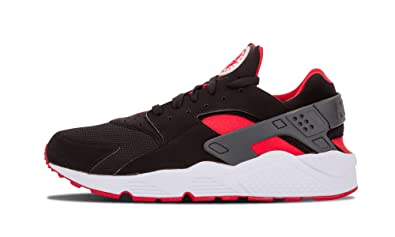 nike huarache black and red