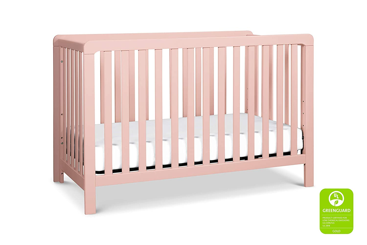 Carter s by DaVinci Colby 4-in-1 Low-Profile Convertible Crib in Petal Pink Greenguard Gold Certified