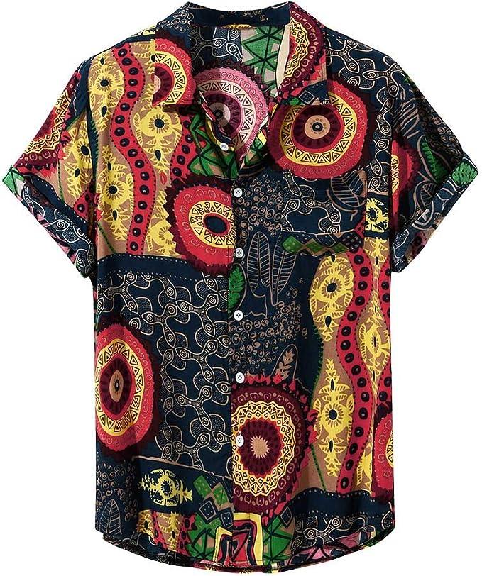 Amazon.com: Camisas de manga corta para hombre, estilo ...