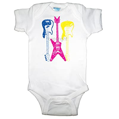U.S. Custom Kids Neon Electric Guitars Infant Bodysuit