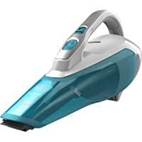 Black+Decker 16.2Wh Wet and Dry Lithium-Ion Dustbuster Cordless Hand Vacuum, White/Blue - WDA315J-B5