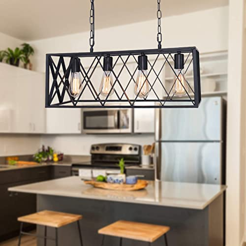 Farmhouse Chandelier Kitchen Island Lighting fixtures Industrial Rustic Pendant Light Dinning Room Loft Bar Lighting
