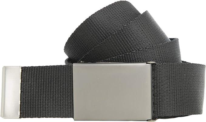 Schwarzer Stoffgürtel 150cm lang 4cm breit mit Schnalle der Marke shenky