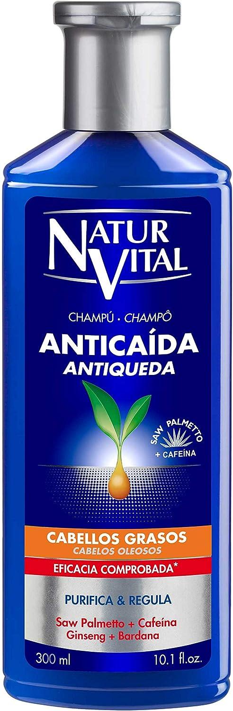 NATURALEZA Y VIDA SHAMPOO anticaida cabellos grasos 300 ml