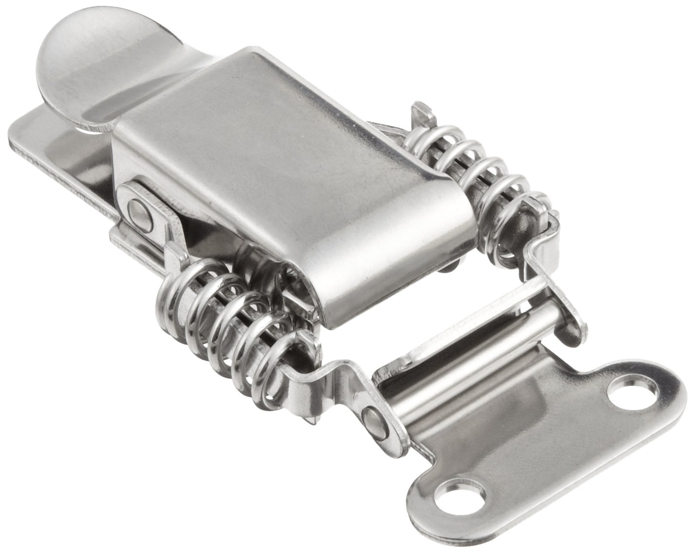 Stainless Steel 304 Spring Loaded Draw Latch, Polished Finish, Non Locking, 3 21/64'' Length (Pack of 1)