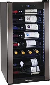 Wine Enthusiast VinoView 28-Bottle Wine Fridge – Freestanding Refrigerator