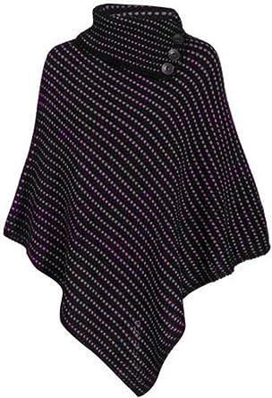Ladies Quality Womens Knitted Poncho Shrug Cape Shawl Winter Wrap One size Plus