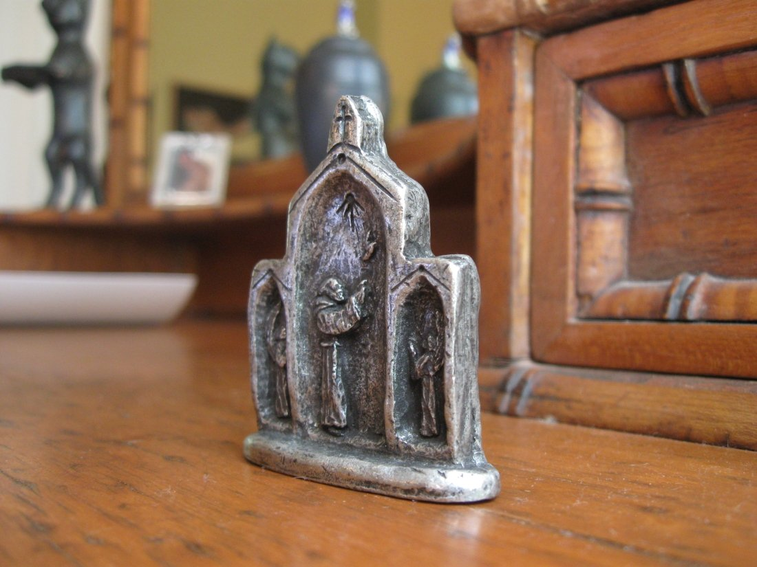 Padre Pio: 'Pray, Hope, Don't Worry,' Handmade Triptych Don' t Worry  Handmade Triptych