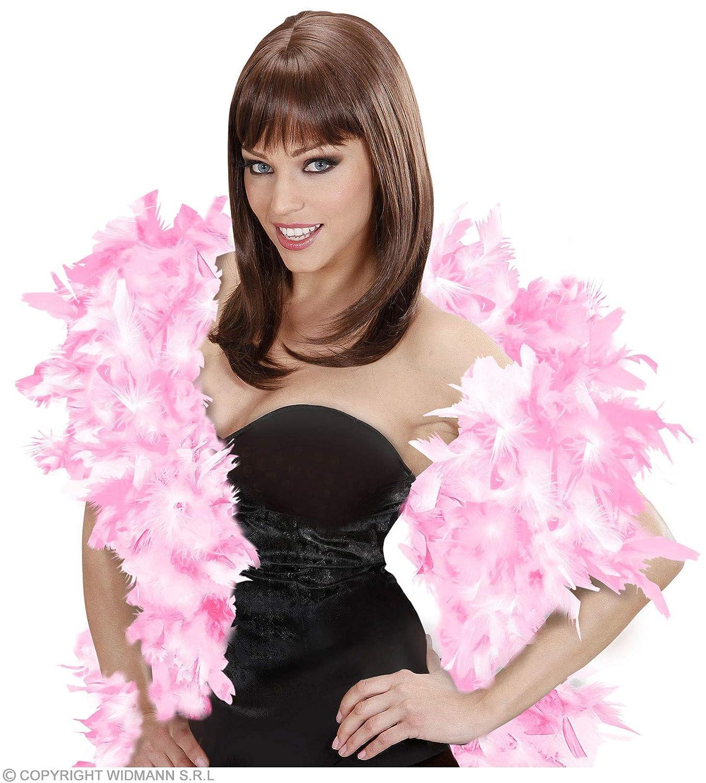 Feather Boa 180cm - Pink/White Accessory for Fancy Dress WIDMANN S.R.L. WDM45554
