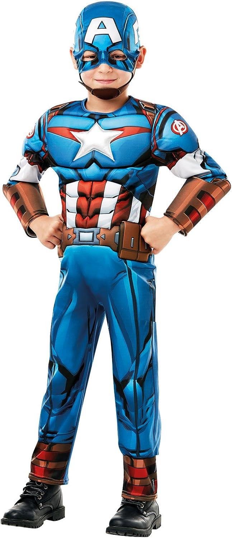 Rubies 640833L - Disfraz de Capitán América de Marvel, Talla L (7 ...